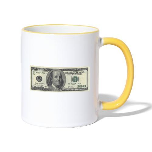 Dollar tegn box - Tofarvet krus