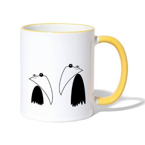 Raving Ravens - black and white 1 - Contrasting Mug