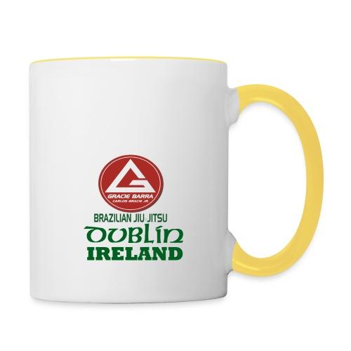 Gracie Barra Dublin Gaelic Celtic Font PNG - Contrasting Mug