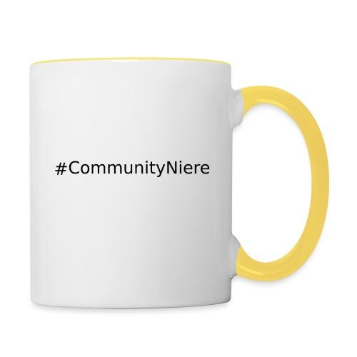 #CommunityNiere (Schwarz) - Tasse zweifarbig