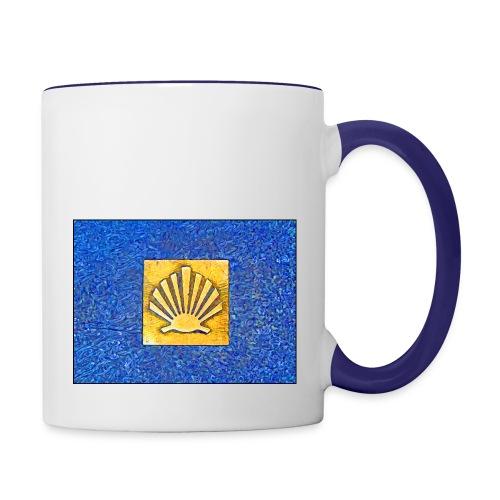 Scallop Shell Camino de Santiago - Contrasting Mug