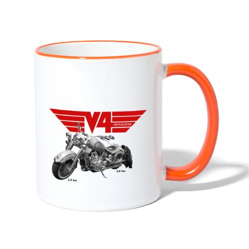 V4 Motorcycles red Wings - Tasse zweifarbig
