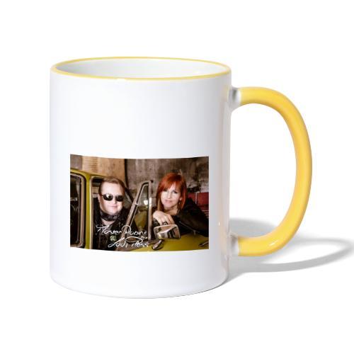 MasterRobin & LadyPless - Tasse zweifarbig