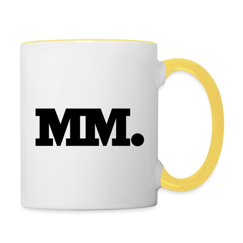 mm logo - Tasse zweifarbig