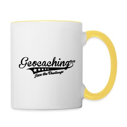 Geocaching - Face the Challenge - Tasse zweifarbig