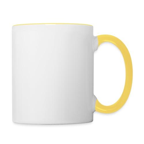 the walking dad white text on black - Contrasting Mug