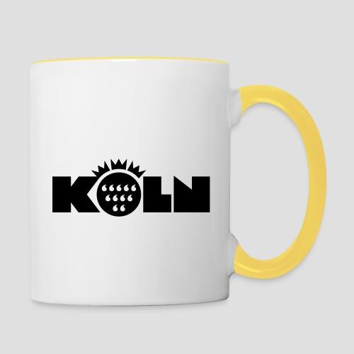 Köln Wappen modern - Tasse zweifarbig