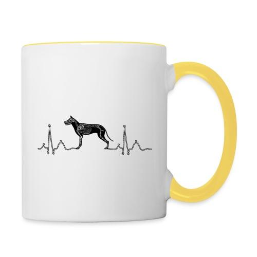 ECG met hond - Mok tweekleurig