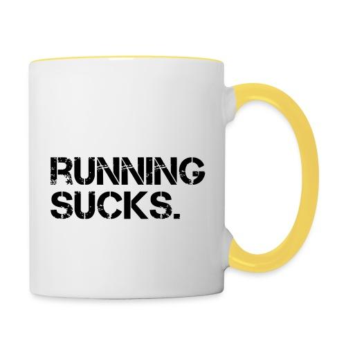 Running Sucks - Tasse zweifarbig