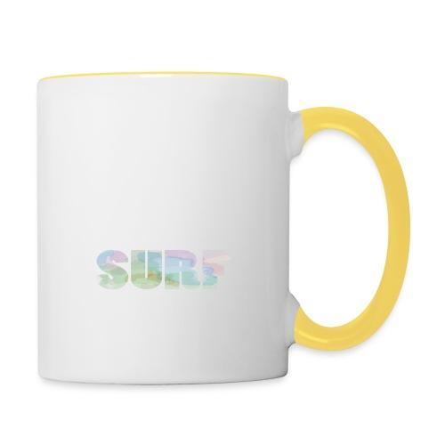 Surf summer beach T-shirt - Contrasting Mug