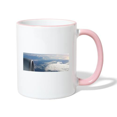 Flugzeug Himmel Wolken Australien - Tasse zweifarbig