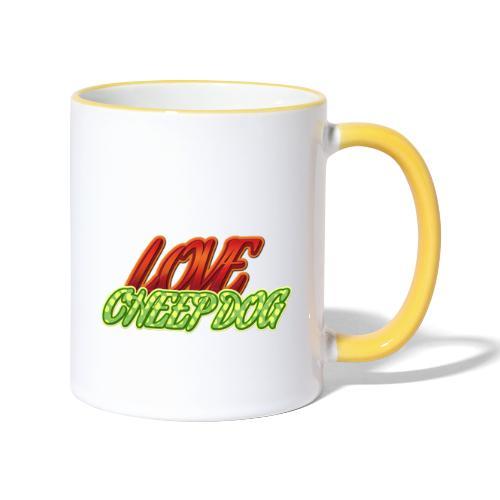 Love Cheep Dog - Tasse zweifarbig