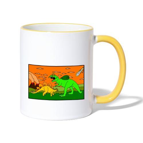 Schneckosaurier von dodocomics - Tasse zweifarbig