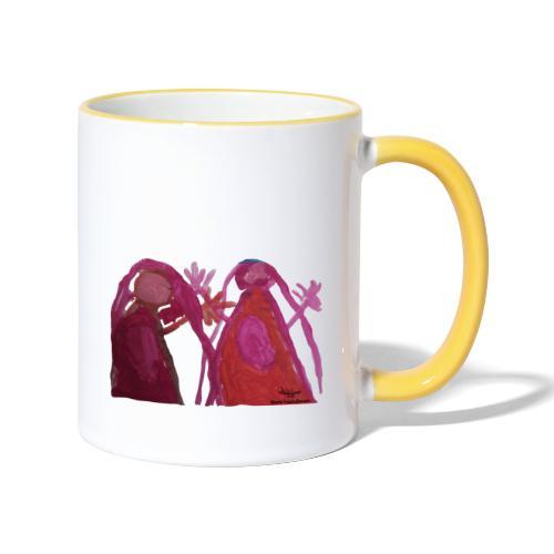 besteFreundinnen1 - Tasse zweifarbig