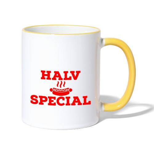 Halv special - Tvåfärgad mugg
