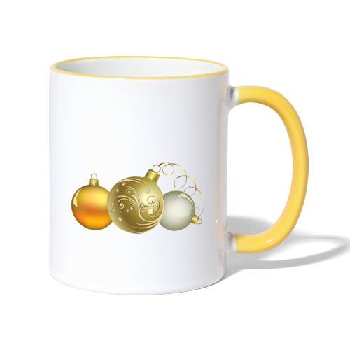 Christmas Ball Decor - Taza en dos colores