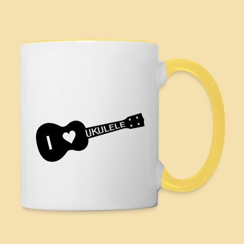 I love UKULELE - Tasse zweifarbig