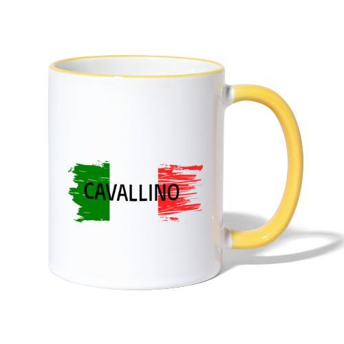 Cavallino auf Flagge - Tasse zweifarbig
