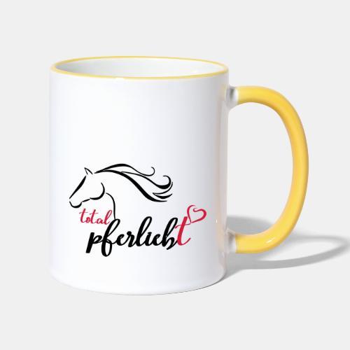 total pferliebt, Pferdeliebe - Tasse zweifarbig