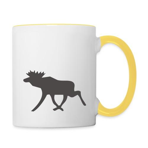 Schwedenelch; schwedisches Elch-Symbol (vektor) - Tasse zweifarbig