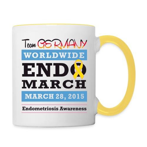 EndoMarch 2015 TeamGermanyDesign - Tasse zweifarbig