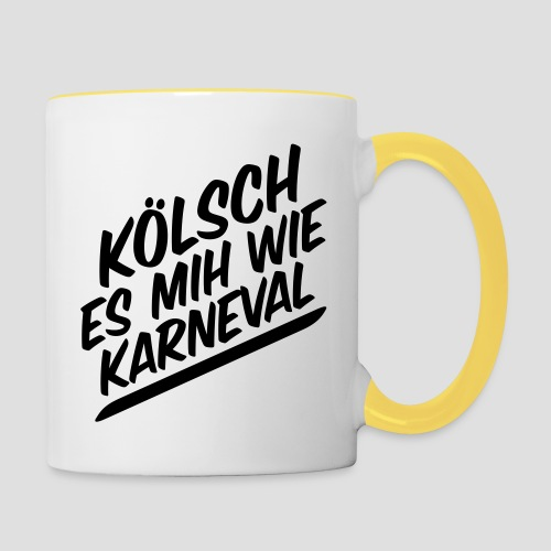 daeHoot Karneval - Tasse zweifarbig