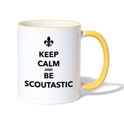 Keep calm and be scoutastic - Farbe frei wählbar - Tasse zweifarbig