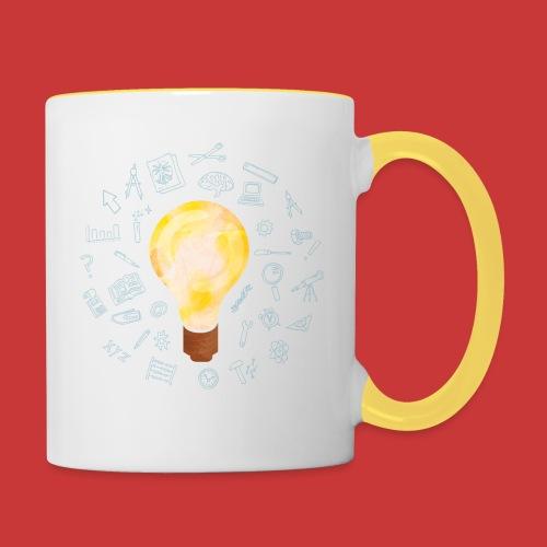 5 IDEEN Glühbirne 2018 - Tasse zweifarbig