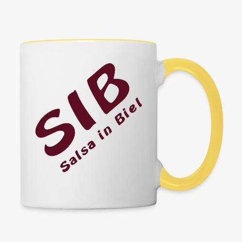 Tanzschule SIB / Salsa In Biel - Tasse zweifarbig