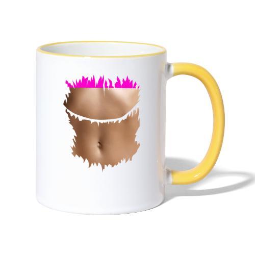 t shirt ventre plat brassiere rose - Mug contrasté