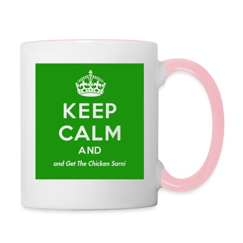 Keep Calm and Get The Chicken Sarni - Green - Contrasting Mug