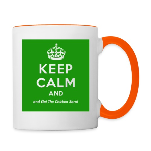 Keep Calm and Get The Chicken Sarni - Green - Contrasting Mug