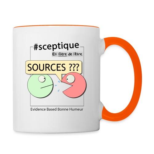 Sceptique et fier de l'être ! (Femme) - Mug contrasté