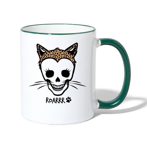 Wild-Katzen-Liebe - Tasse zweifarbig
