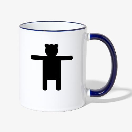 Epic Ippis Entertainment logo desing, black. - Contrasting Mug