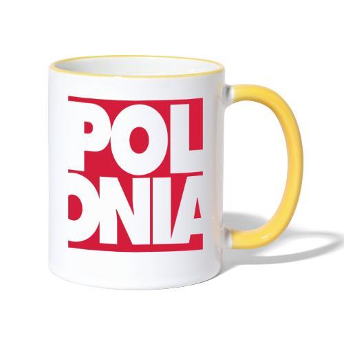 Polonia Schriftzug - Tasse zweifarbig