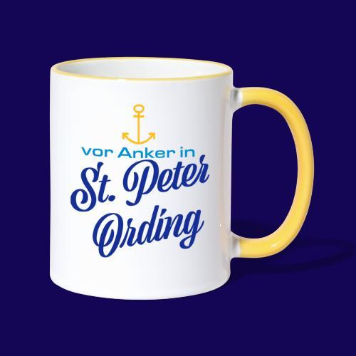 Vor Anker in St. Peter-Ording: Das maritimes Motiv - Tasse zweifarbig