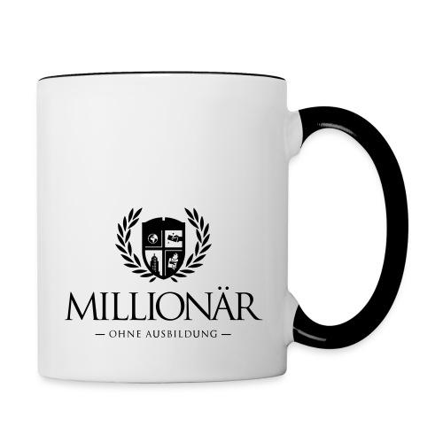 Millionär ohne Ausbildung Shirt - Tasse zweifarbig