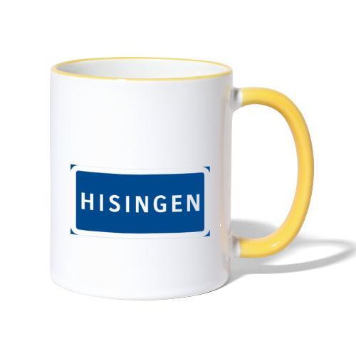 Vägskylt Hisingen - Tvåfärgad mugg