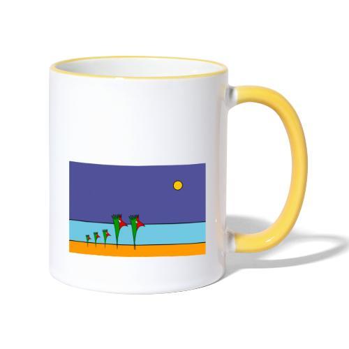 Galoloco - na praia / at the beach (2) -3:2 - Mug contrasté