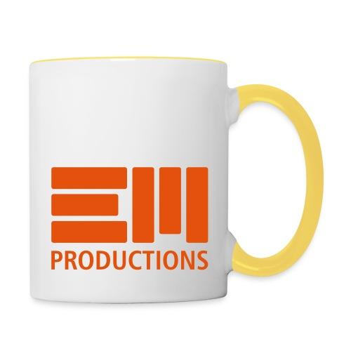 EM Productions Logo 2016 - Tasse zweifarbig