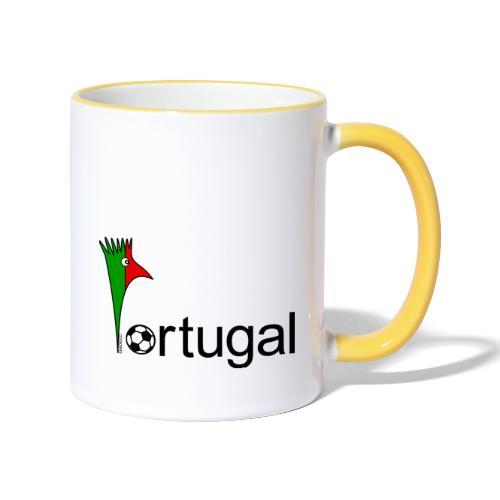 Galoloco Portugal 1 - Tasse zweifarbig