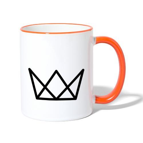 TKG Krone schwarz CMYK - Tasse zweifarbig