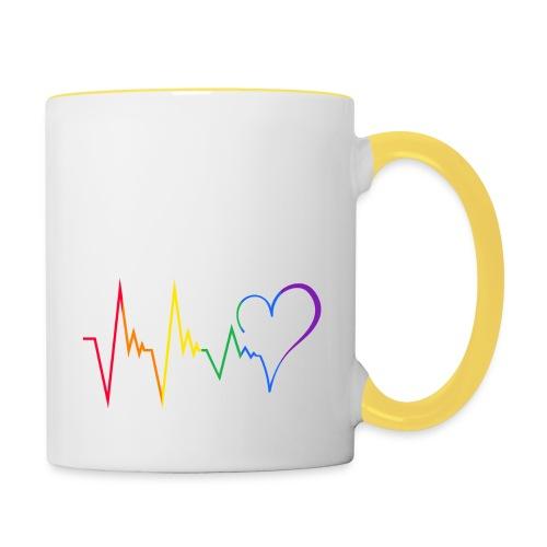 Heartbeat - Tasse zweifarbig