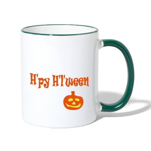 Happy Halloween - Tasse zweifarbig
