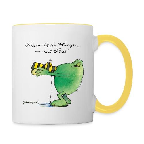 Janosch Frosch 'Küssen ist wie ...' - Tasse zweifarbig
