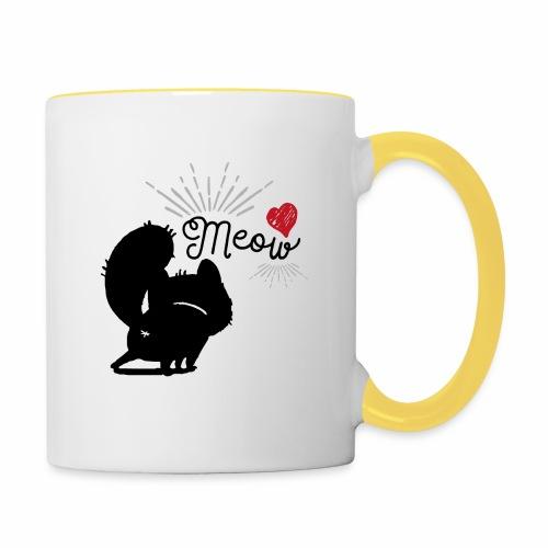 gatto meow - Tazze bicolor