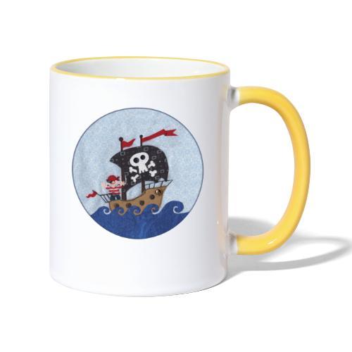 Piratenschiff - Tasse zweifarbig
