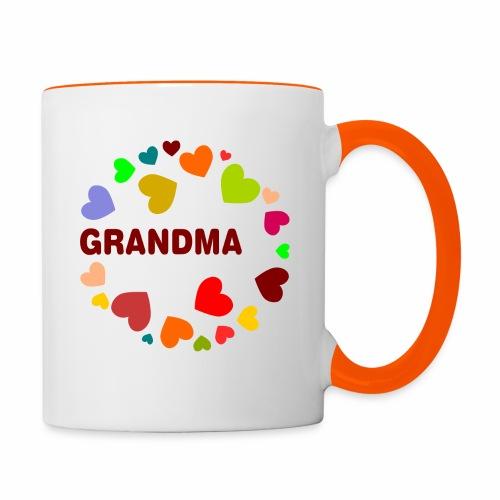 Grandma - Tasse zweifarbig