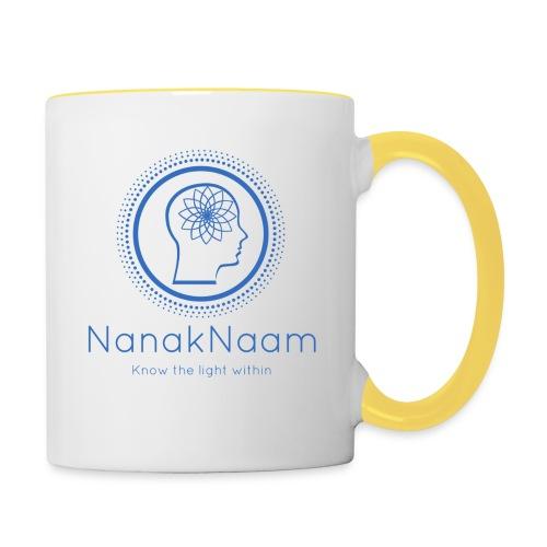 Nanak Naam Logo and Name - Blue - Contrasting Mug